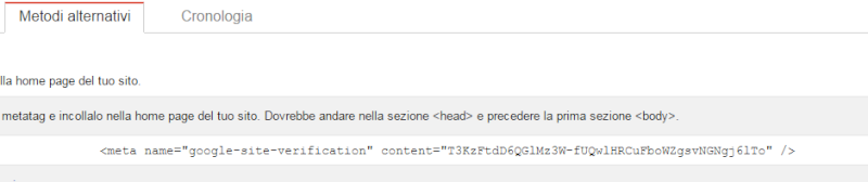 Google, aggiungere il Forum ad esso e verificare metatag Primo10