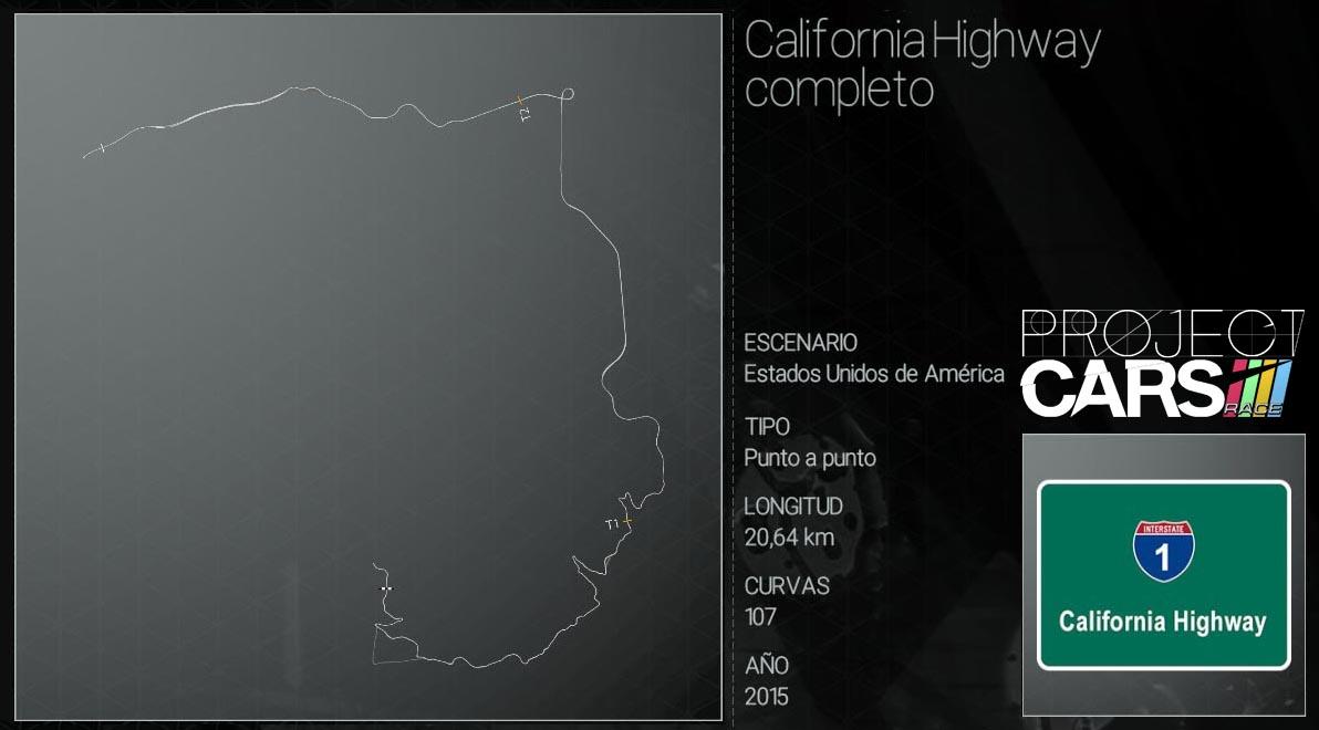 Circuitos Project CARS Califo13