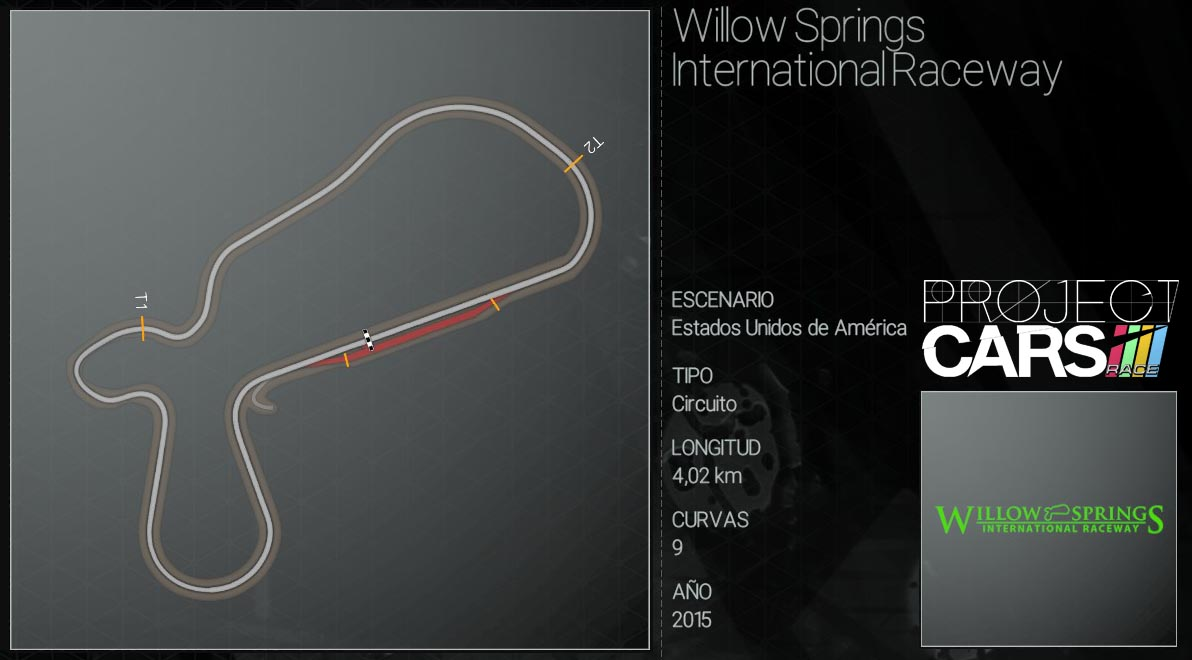 Circuitos Project CARS Willow10
