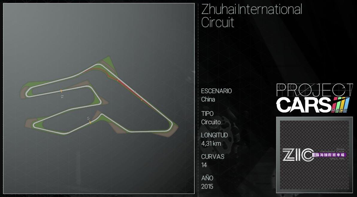 Circuitos Project CARS Zhuhai10
