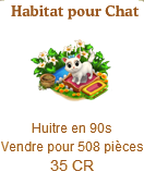 Habitat pour chat => Huître Sans_131