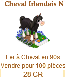 Cheval Irlandais Noir / Cheval Irlandais => Fer à Cheval Sans_333