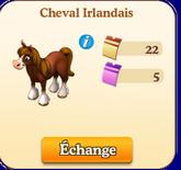 Cheval Irlandais Noir / Cheval Irlandais => Fer à Cheval Sans_424