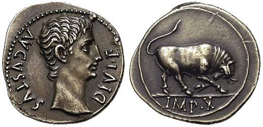 AVGVSTUS DIVI F, RIC 167a Sans-t11