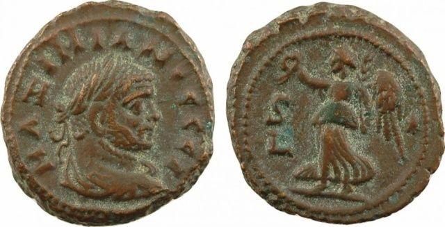 Tétradrachme d'Alexandrie peut être Maximien Hercule Sans-t13
