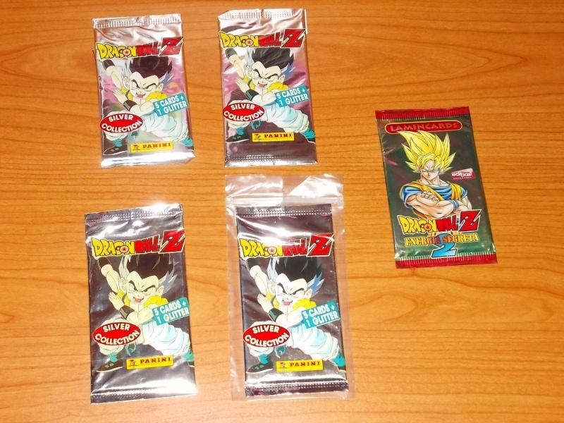 lotto 5 pacchetti figurine dragonball z 4 silver 2002 1 2009 verde sigillati 56111