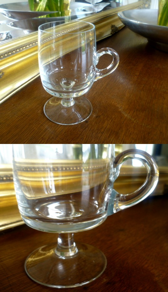 Delicate Crystal Glass Coffee/Punch glass - FT Dartington?  Aa12310