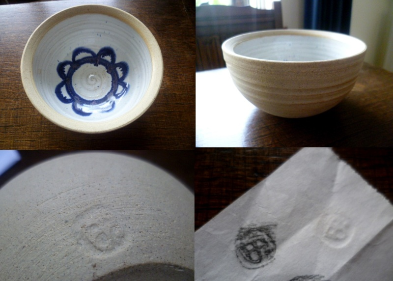 Stoneware inner glazed bowl - having trouble with the impressed mark Abowl10