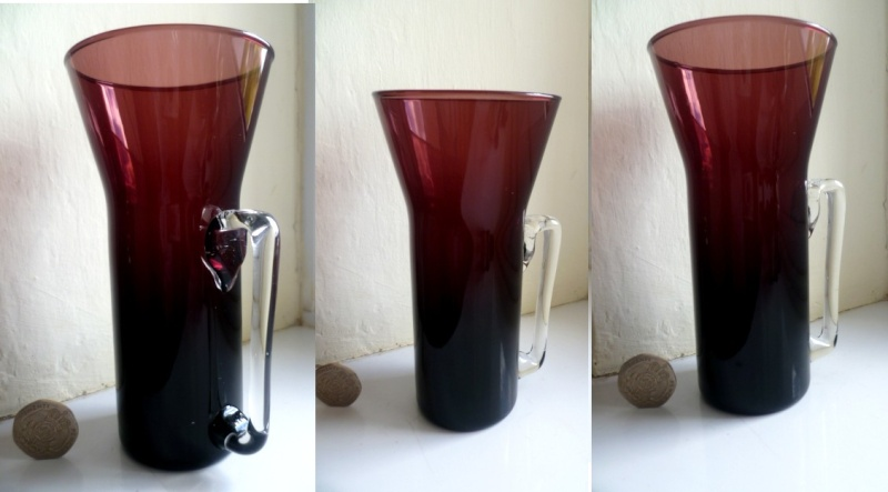 Modernist Cranberry Glass Glass Acran11