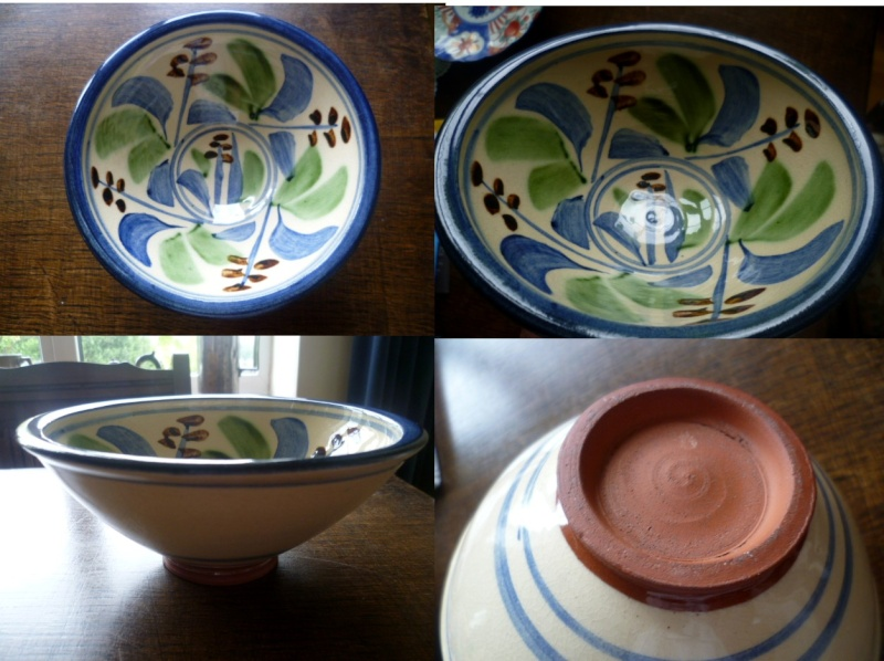 Red Earthenware/clay bowl Nicely decorated with an almost Caiger Smith like Aflowe10