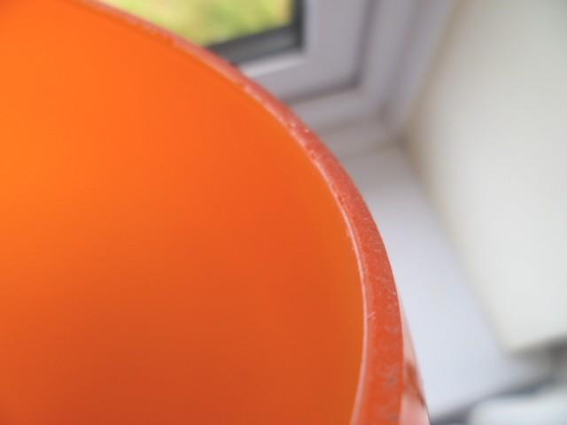 Orange cased glass tear drop shape lampshade - Scandinavian? Atear110