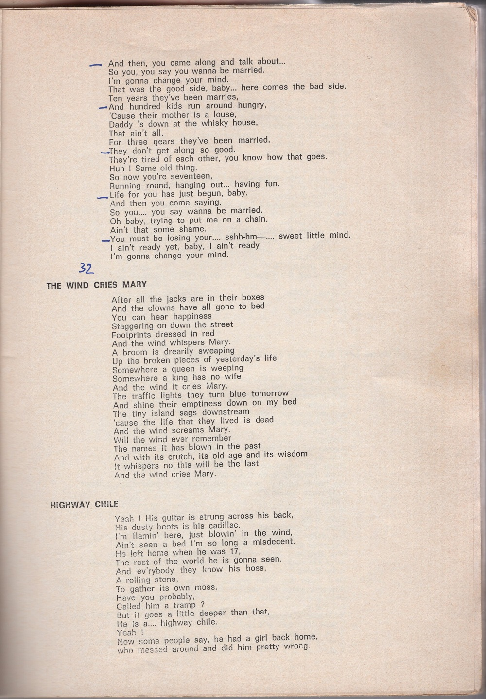 Curio Francais... Jimi Hendrix Songbook 1110