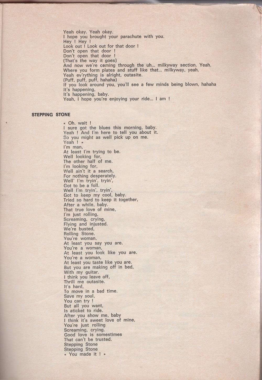 Curio Francais... Jimi Hendrix Songbook 1310