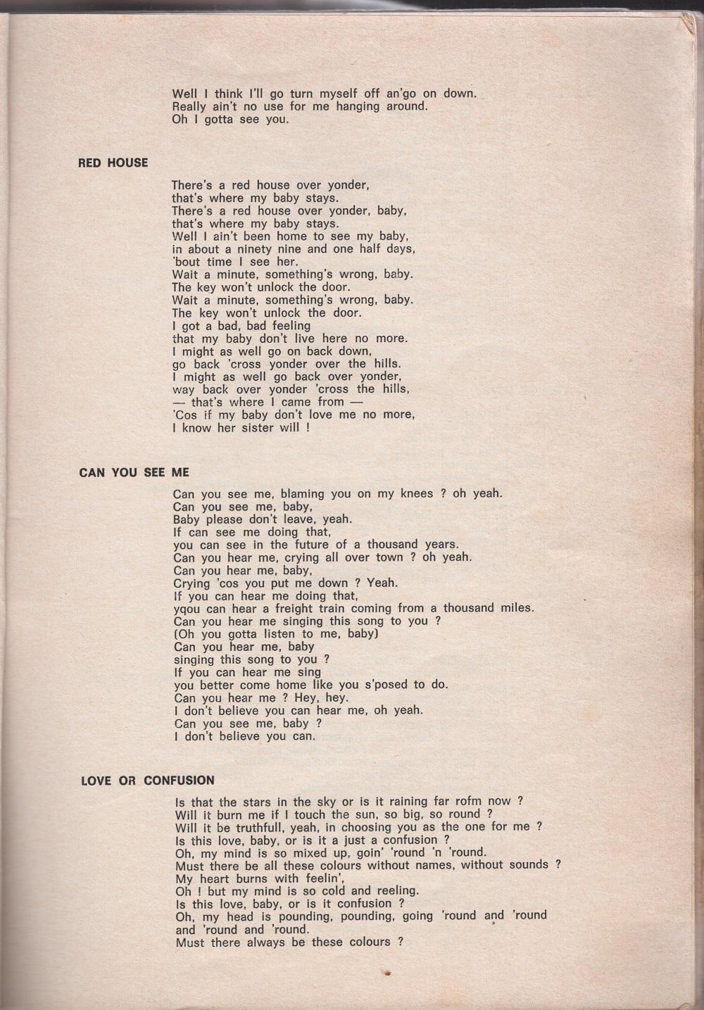 Curio Francais... Jimi Hendrix Songbook 1510