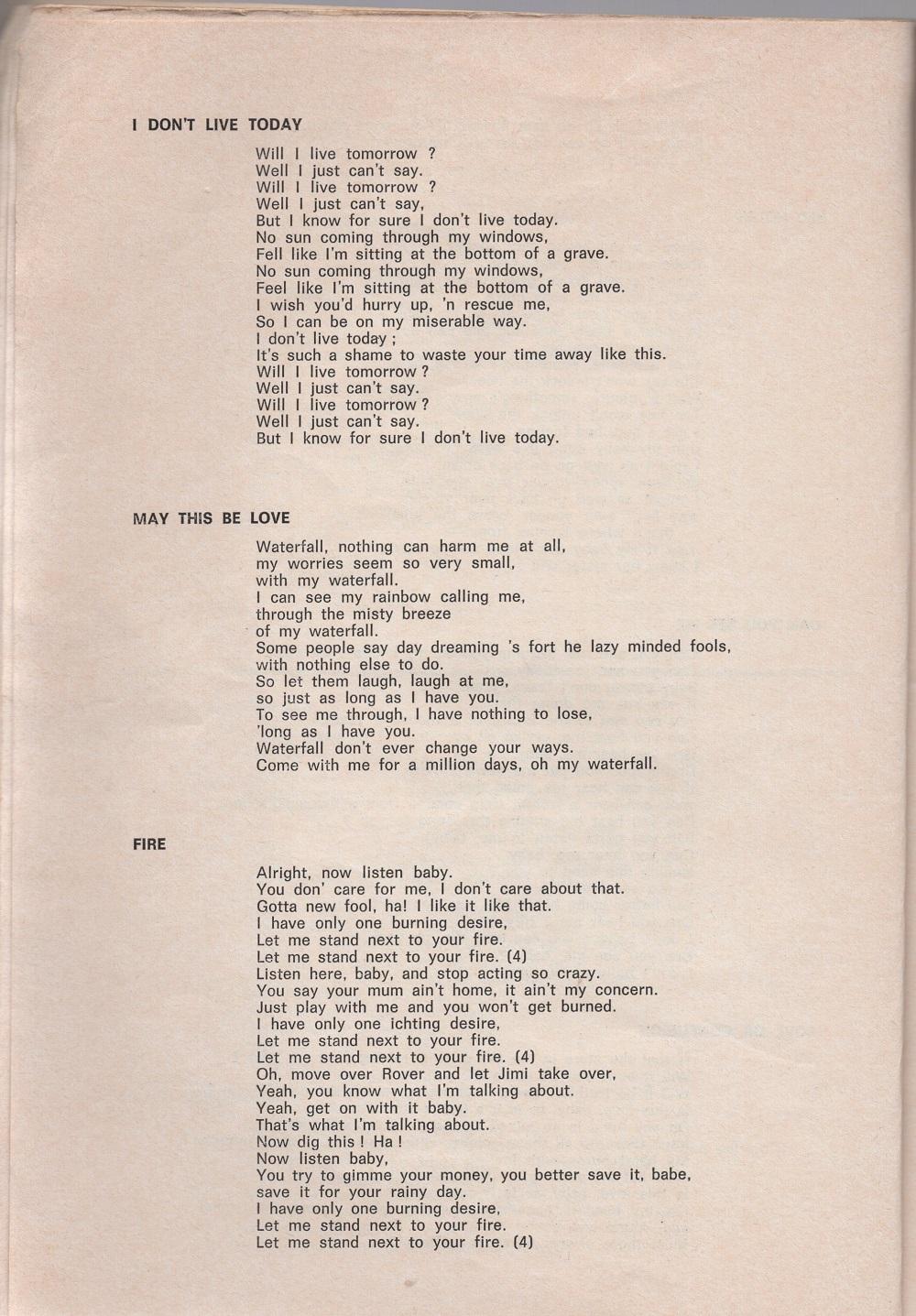 Curio Francais... Jimi Hendrix Songbook 1610
