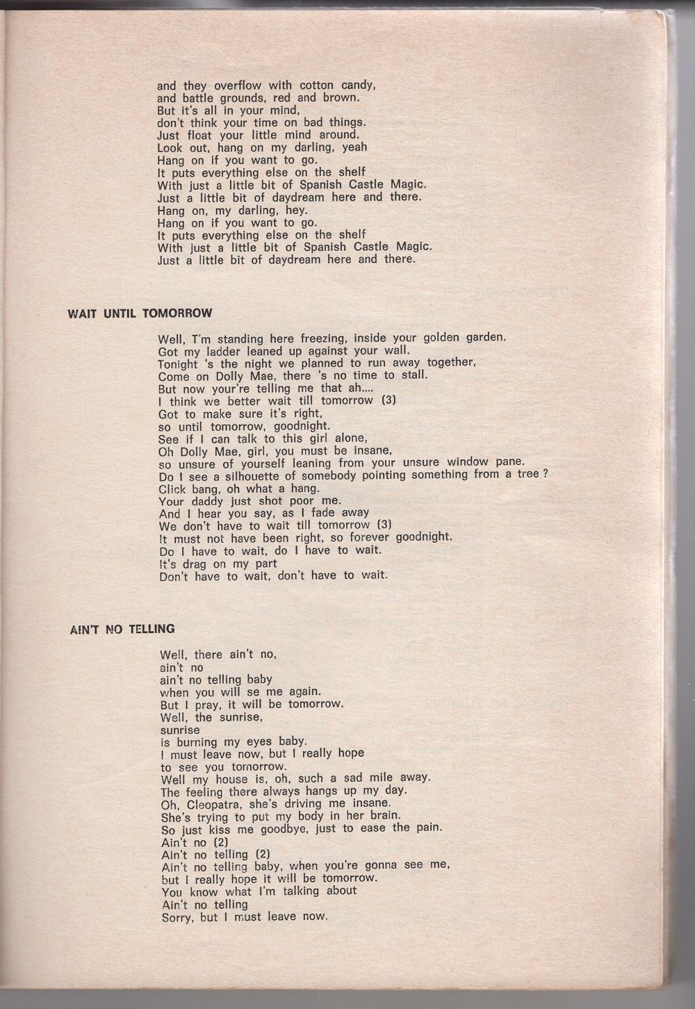 Curio Francais... Jimi Hendrix Songbook 1910