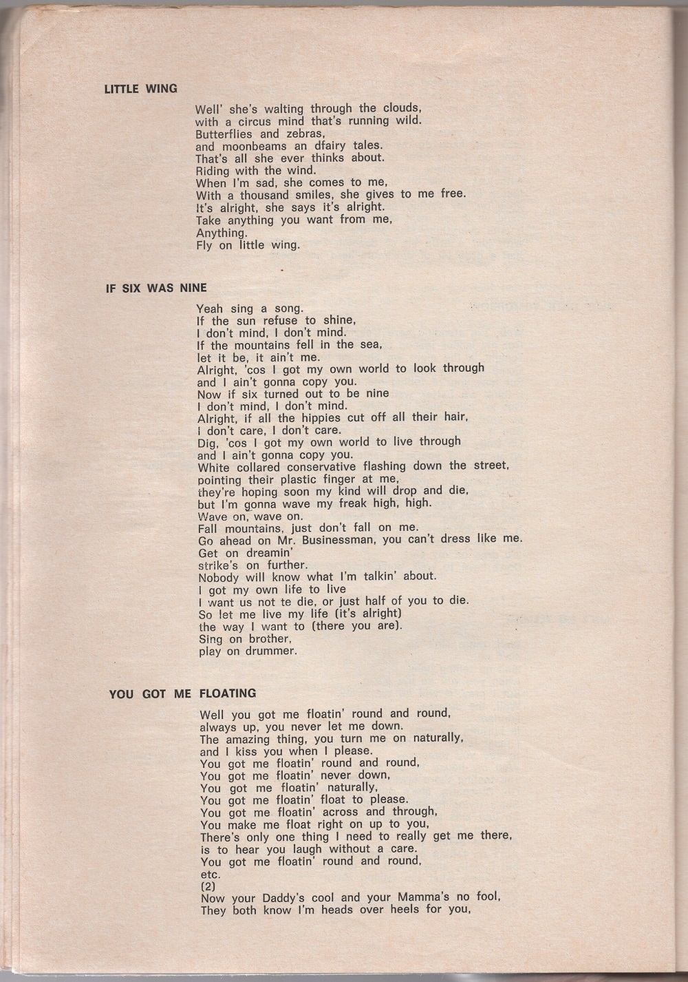 Curio Francais... Jimi Hendrix Songbook 2010