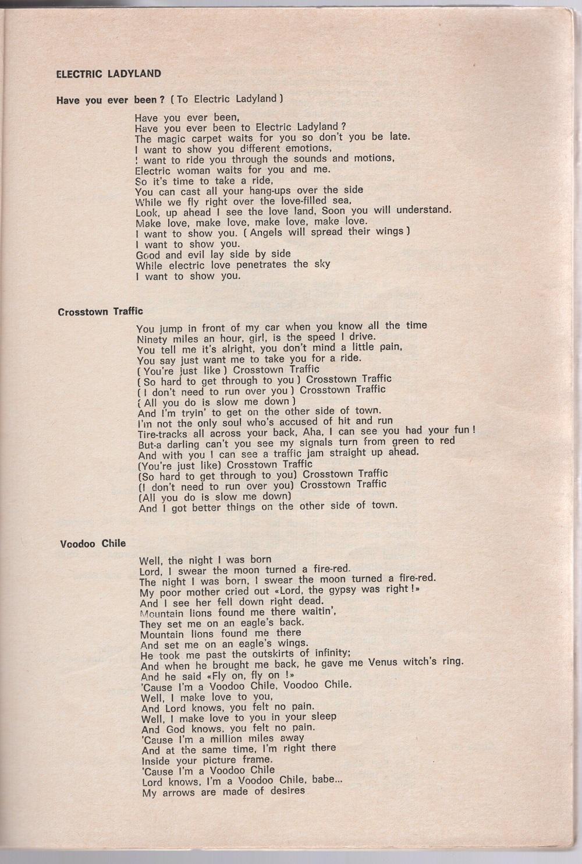 Curio Francais... Jimi Hendrix Songbook 2310