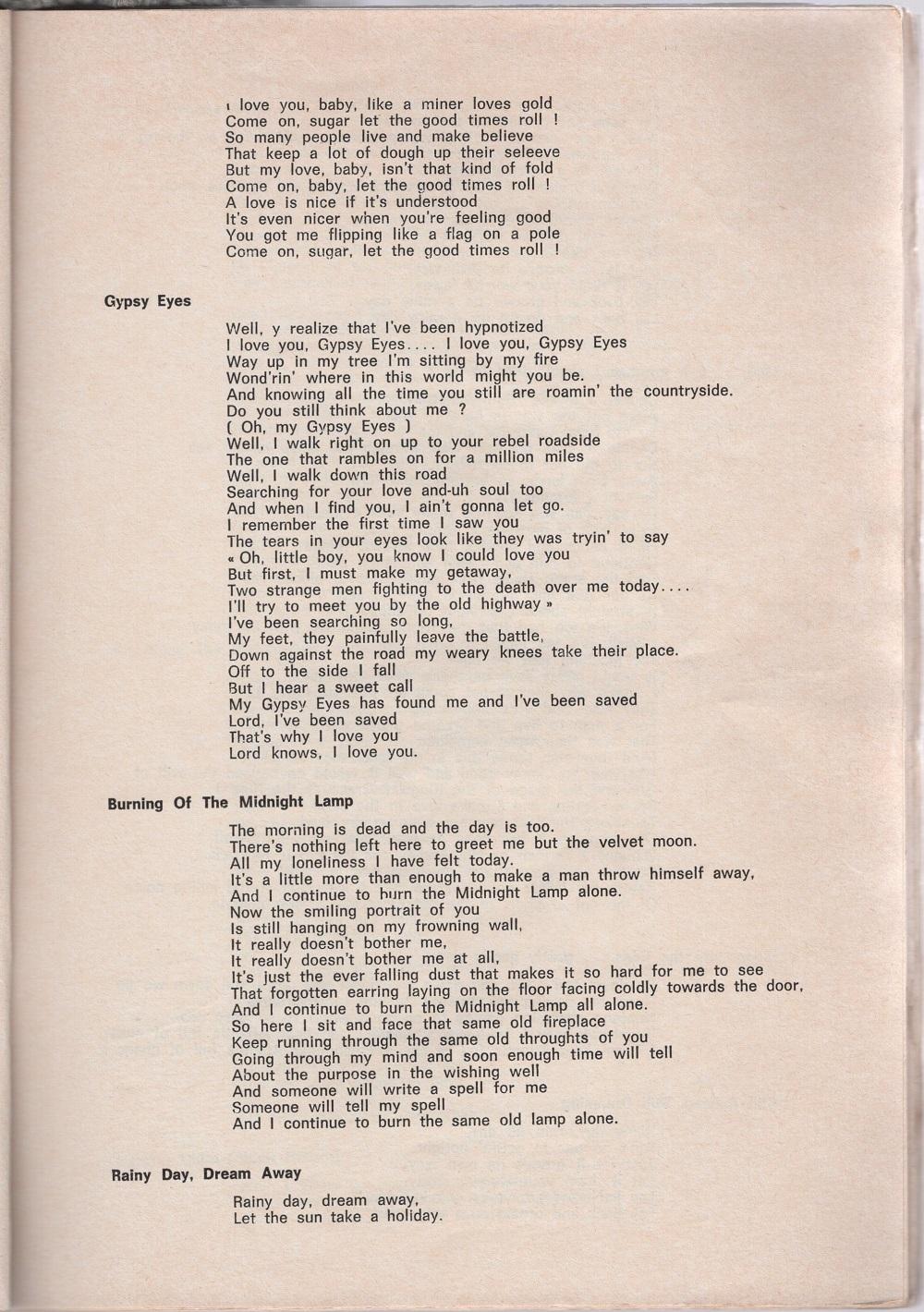 Curio Francais... Jimi Hendrix Songbook 2510
