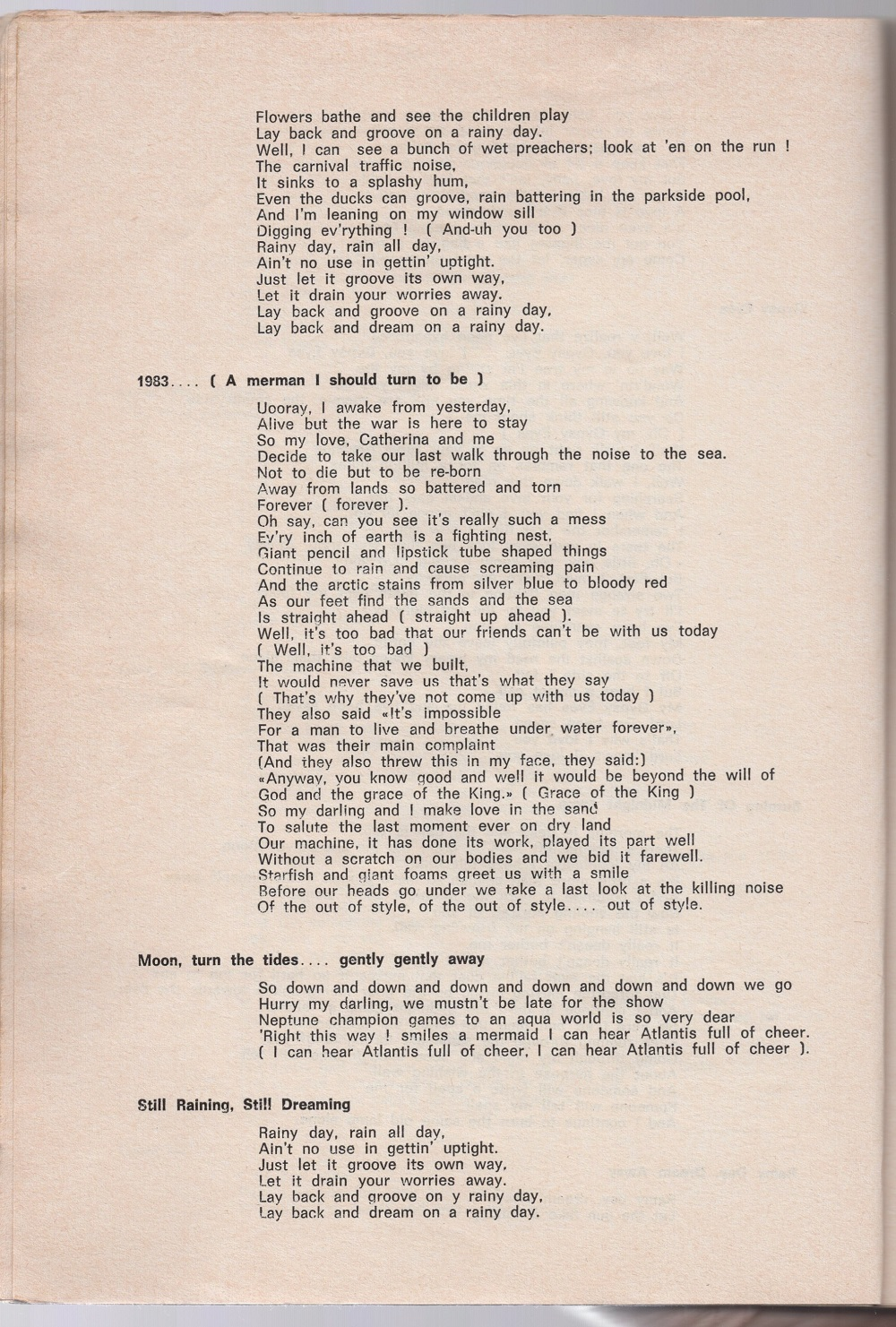 Curio Francais... Jimi Hendrix Songbook 2610