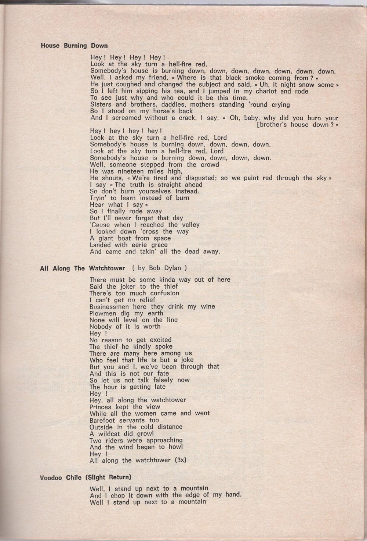 Curio Francais... Jimi Hendrix Songbook 2710
