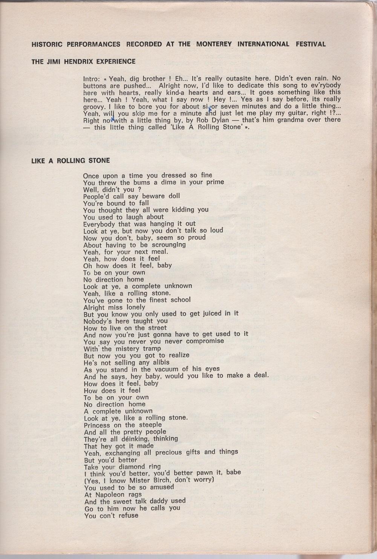 Curio Francais... Jimi Hendrix Songbook 3110