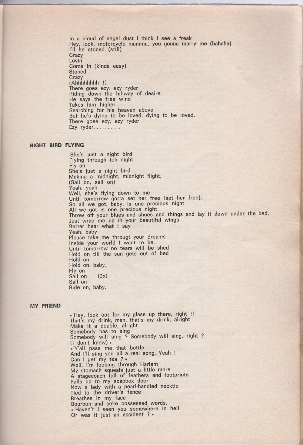 Curio Francais... Jimi Hendrix Songbook 3510