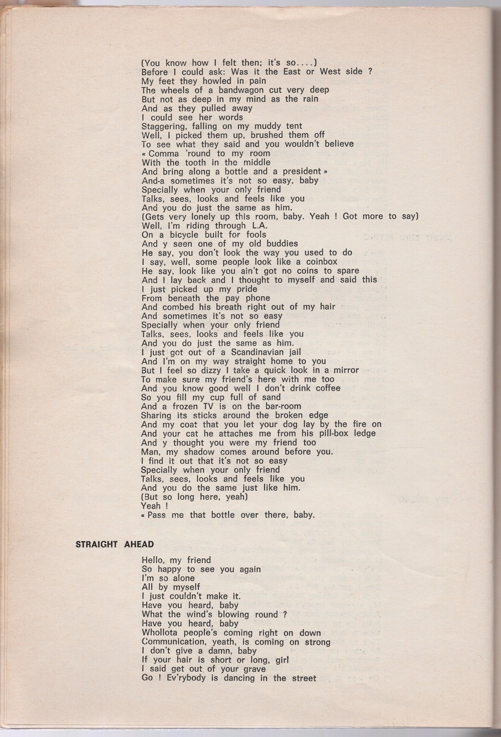 Curio Francais... Jimi Hendrix Songbook 3610