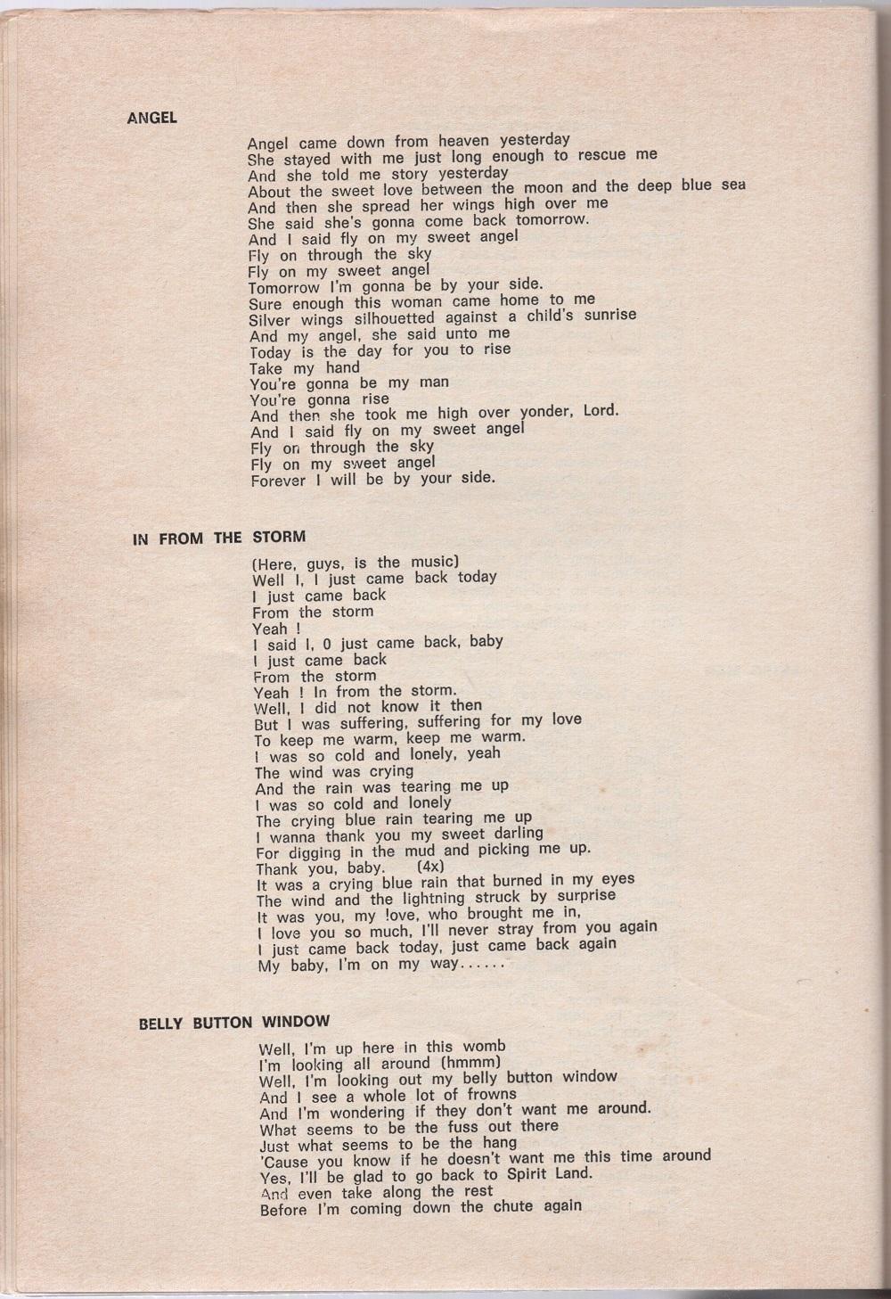 Curio Francais... Jimi Hendrix Songbook 3810