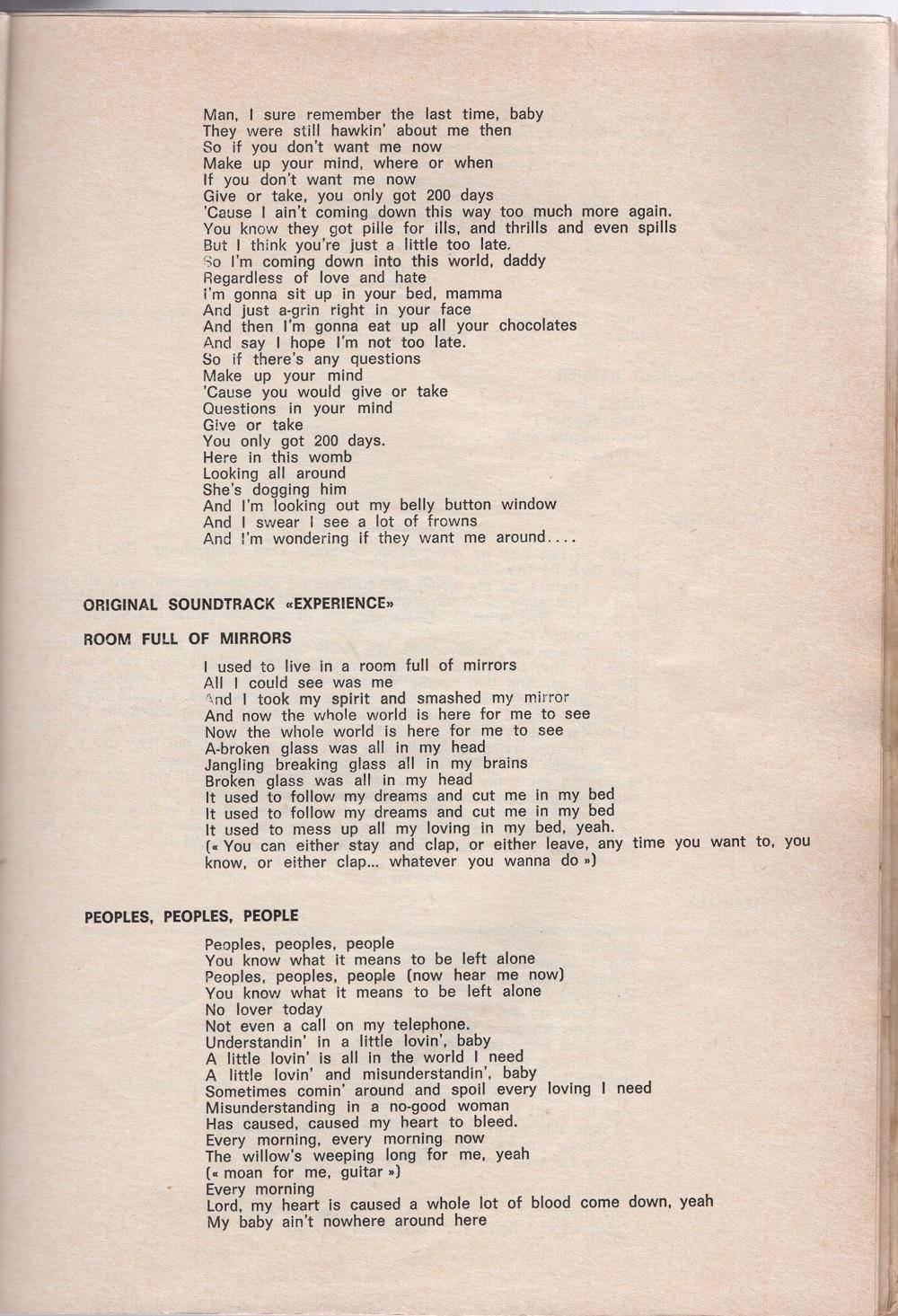 Curio Francais... Jimi Hendrix Songbook 3910