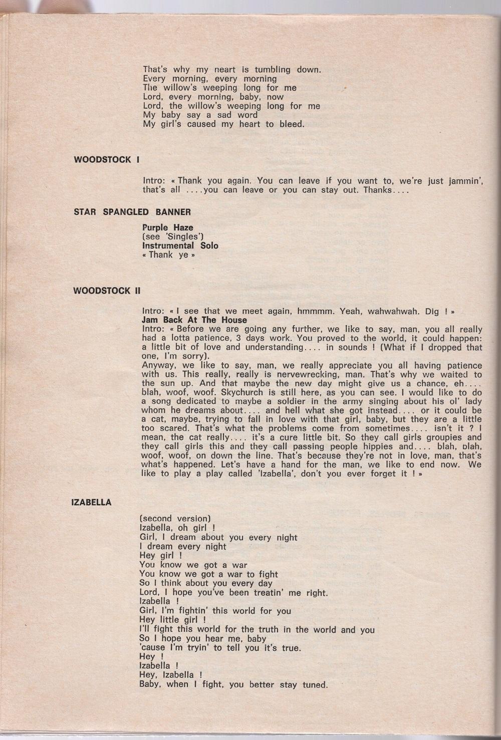 Curio Francais... Jimi Hendrix Songbook 4010