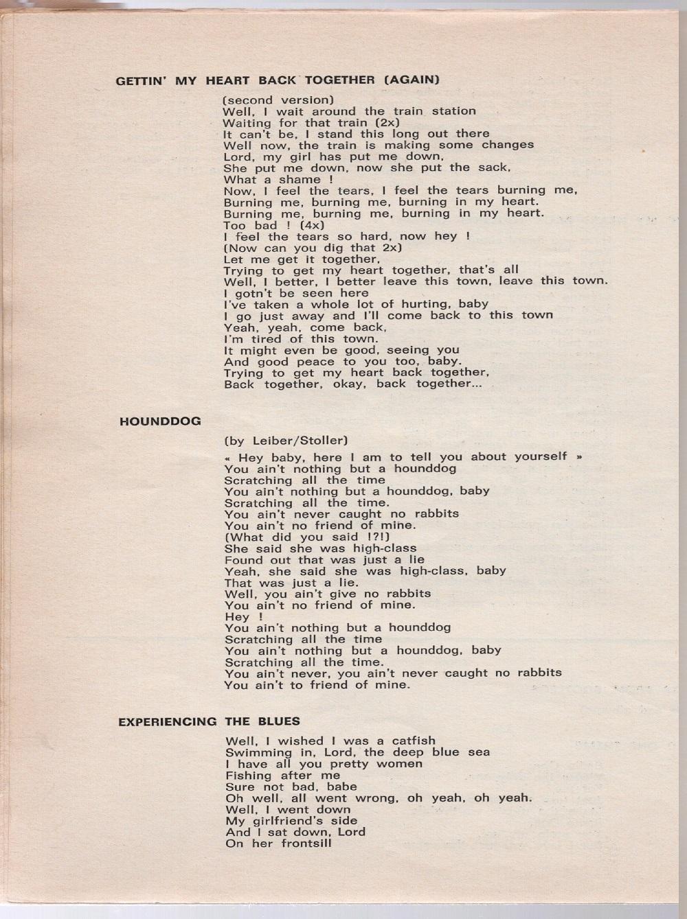 Curio Francais... Jimi Hendrix Songbook 4210