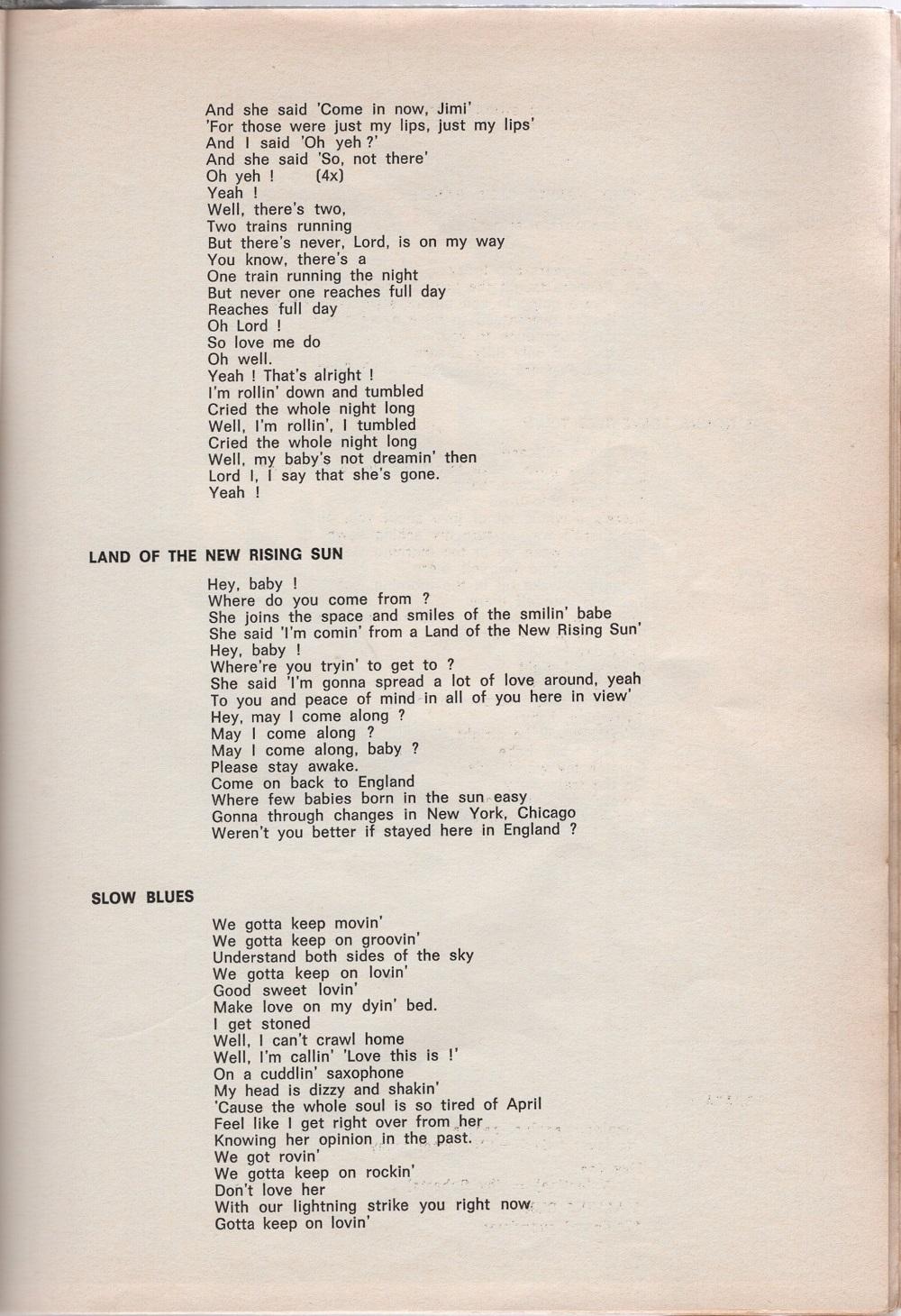 Curio Francais... Jimi Hendrix Songbook 4310