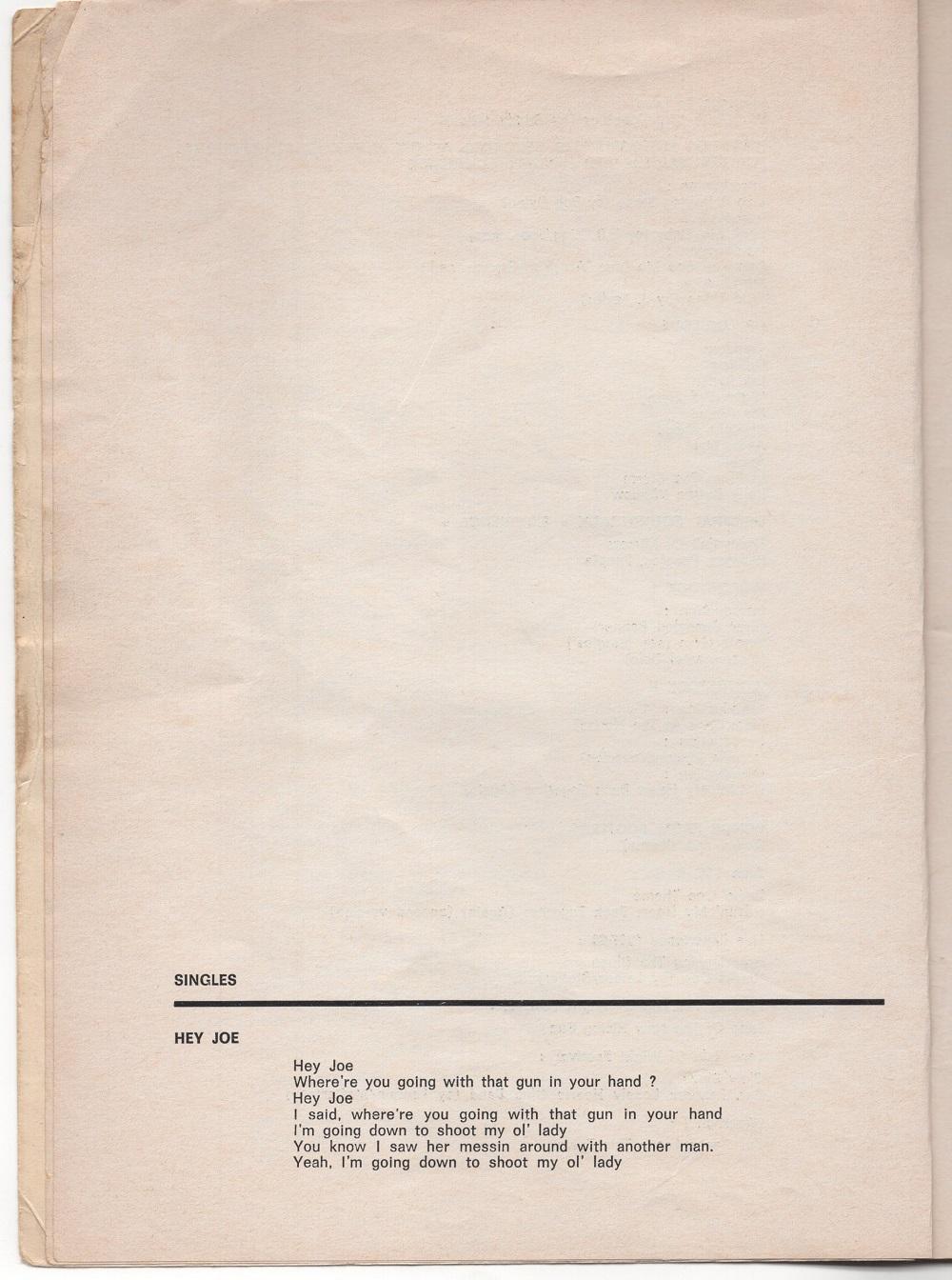 Curio Francais... Jimi Hendrix Songbook 810
