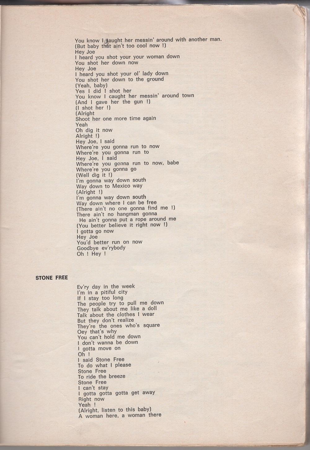 Curio Francais... Jimi Hendrix Songbook 910
