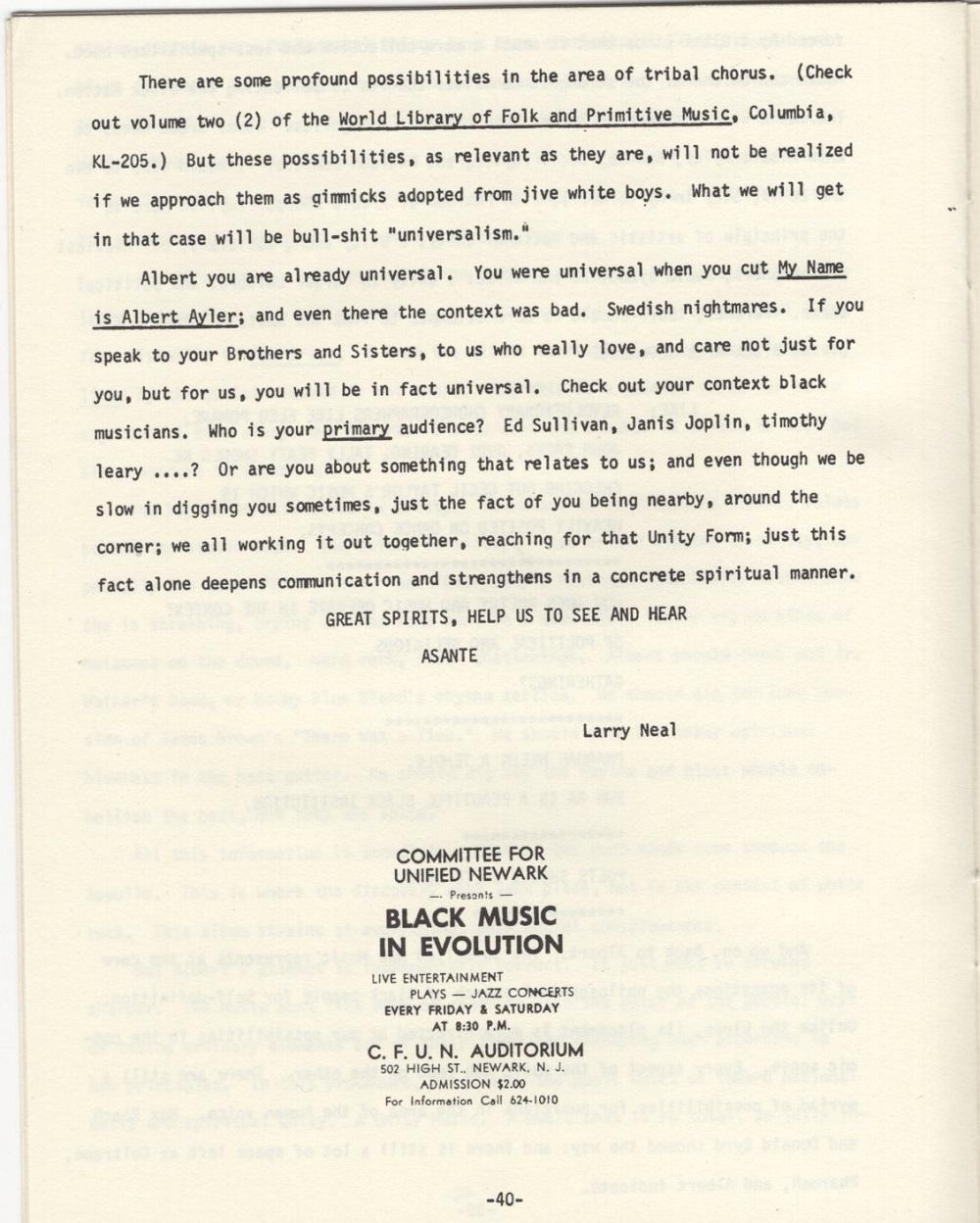 Albert Ayler : New Grass (1969) Critiq14