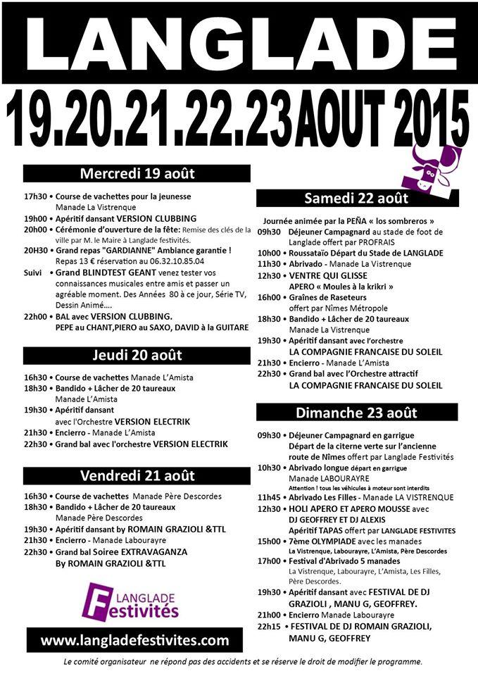 LANGLADE Fête votive du 19 au 23 Août 2015 Fvl10