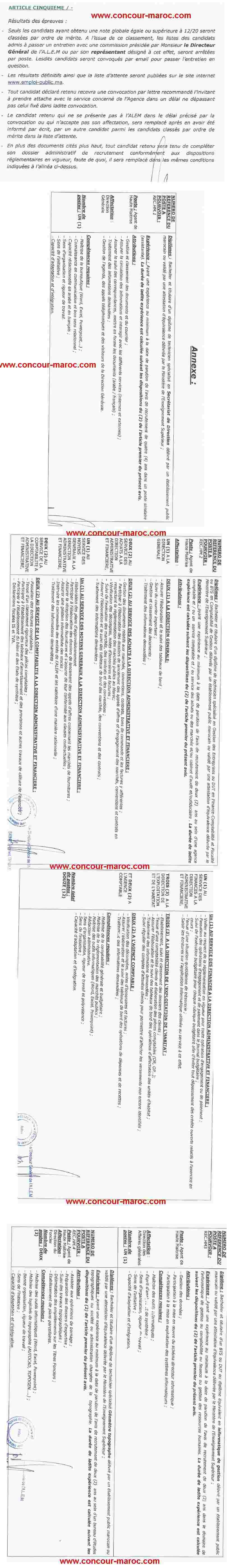 وكالة المساكن والتجهيزات العسكرية : تمديد تاريخ إيداع الترشيحات لمباراة توظيف مناصب في مجالات مختلفة (16 منصب) الى غاية9 شتنبر 2015 Conco131