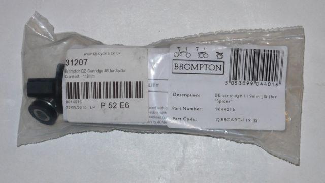 Pose du pédalier Brompton post-2012 à couronne détachable et comparaison avec le modèle précédent  Bb10