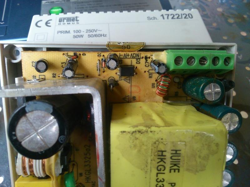 Problème alimentation visiophone suite orage et/ou coupure électrique Dytail10