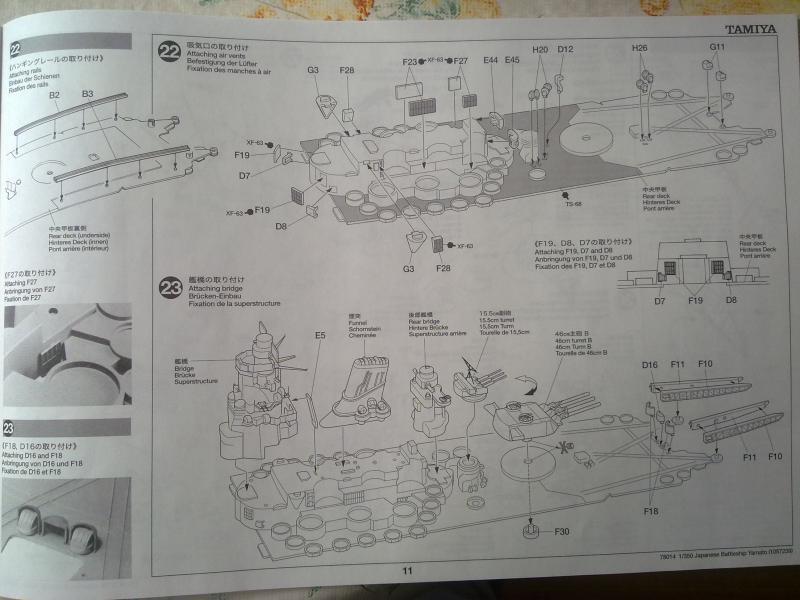 Cuirassé Yamato par Pascal 72 de Tamiya au 1/350 1011