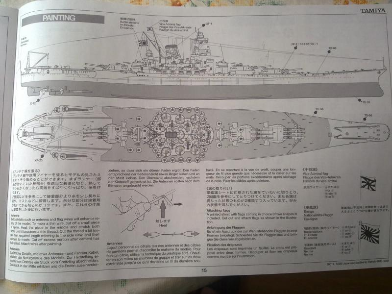 Cuirassé Yamato par Pascal 72 de Tamiya au 1/350 1411