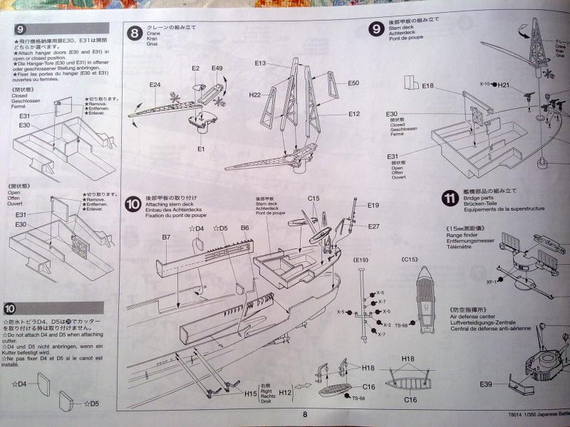 Cuirassé Yamato par Pascal 72 de Tamiya au 1/350 711