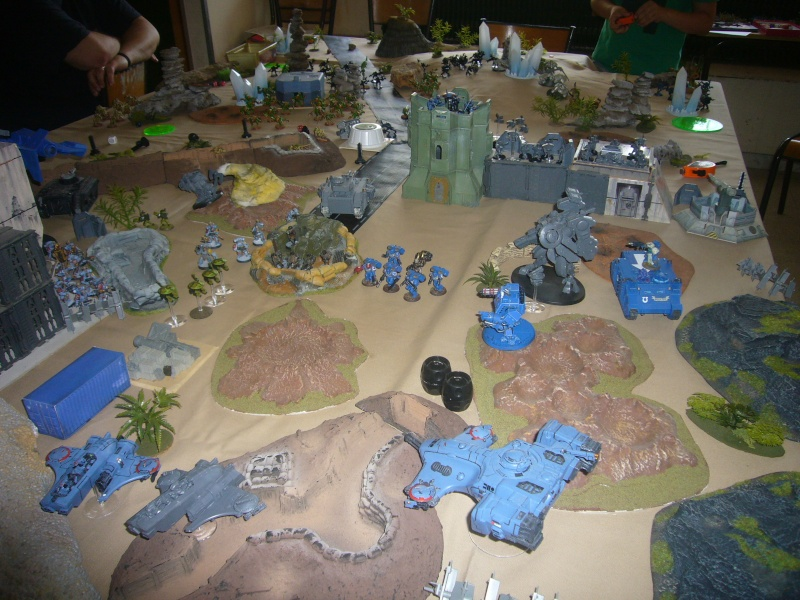 bataille de GALENUS PRIME : alliance TAU/SPACE MARINE contre tyranides. P1420311