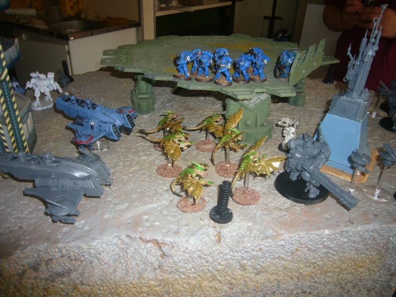 bataille de GALENUS PRIME : alliance TAU/SPACE MARINE contre tyranides. P1420313