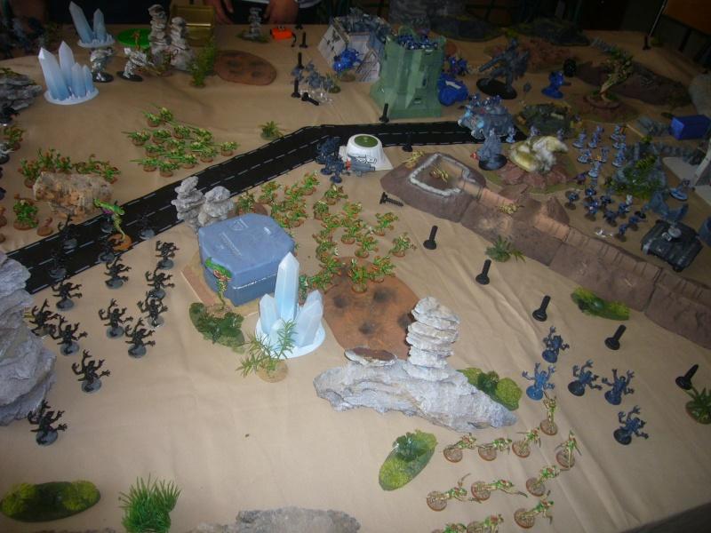 bataille de GALENUS PRIME : alliance TAU/SPACE MARINE contre tyranides. P1420314
