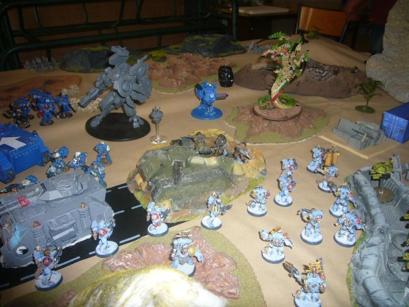 bataille de GALENUS PRIME : alliance TAU/SPACE MARINE contre tyranides. P1420316