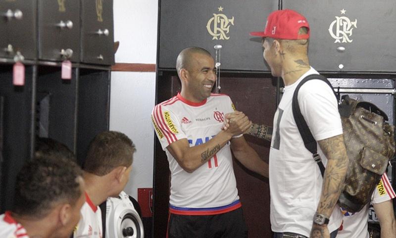 Llegada y primer entrenamiento de Paolo Guerrero en el Flamengo Notici15