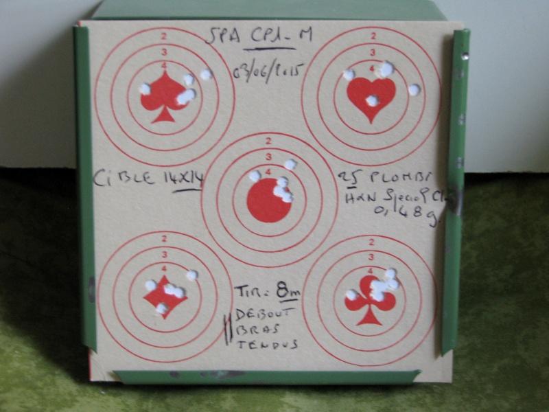 Mes premiers Cartons avec le SPA CP1-M en Cal. 4,5mm Chargeur 9 Coups. Img_0221