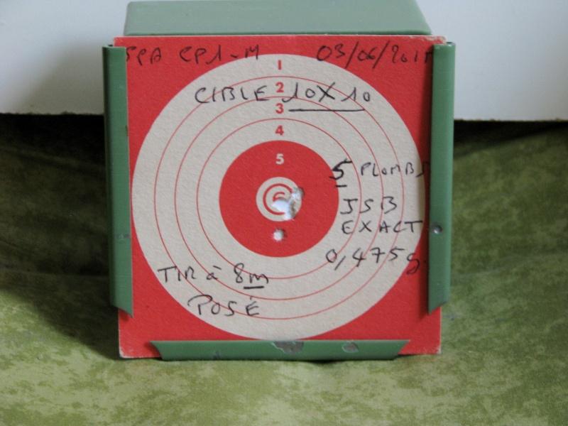 Mes premiers Cartons avec le SPA CP1-M en Cal. 4,5mm Chargeur 9 Coups. Img_0223